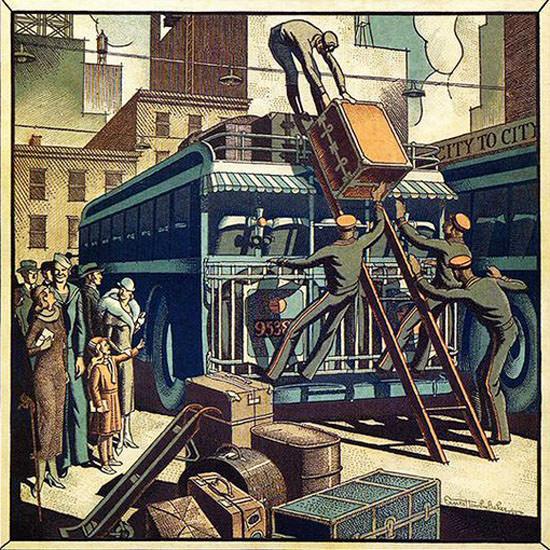 Ernest Hamlin Baker Fortune Magazine August 1933 Copyright crop   Best of Vintage Cover Art 1900-1970