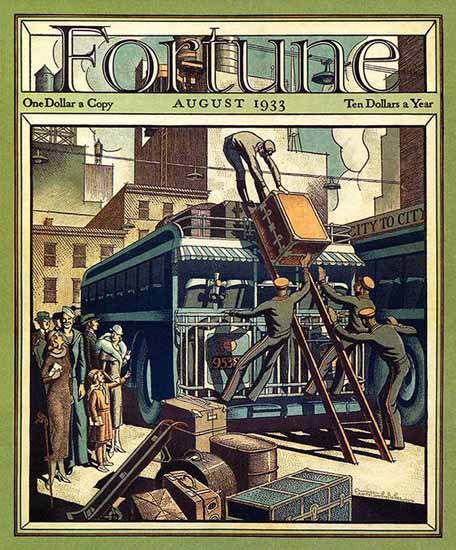 Ernest Hamlin Baker Fortune Magazine August 1933 Copyright | Fortune Magazine Graphic Art Covers 1930-1959