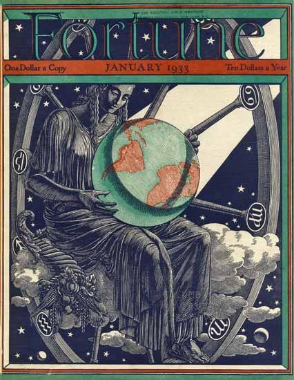Ernest Hamlin Baker Fortune Magazine January 1933 Copyright | Fortune Magazine Graphic Art Covers 1930-1959