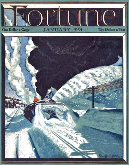 Ernest Hamlin Baker Fortune Magazine January 1934 Copyright | Fortune Magazine Graphic Art Covers 1930-1959