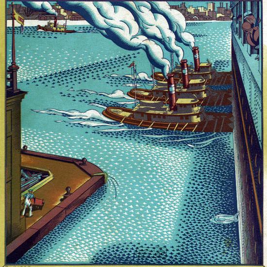 Ernest Hamlin Baker Fortune Magazine July 1931 Copyright crop   Best of Vintage Cover Art 1900-1970