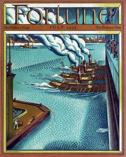 Ernest Hamlin Baker Fortune Magazine July 1931 Copyright | Fortune Magazine Graphic Art Covers 1930-1959