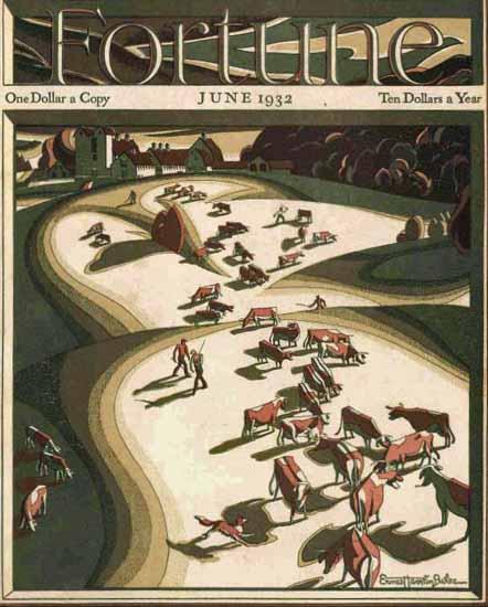 Ernest Hamlin Baker Fortune Magazine June 1932 Copyright | Fortune Magazine Graphic Art Covers 1930-1959
