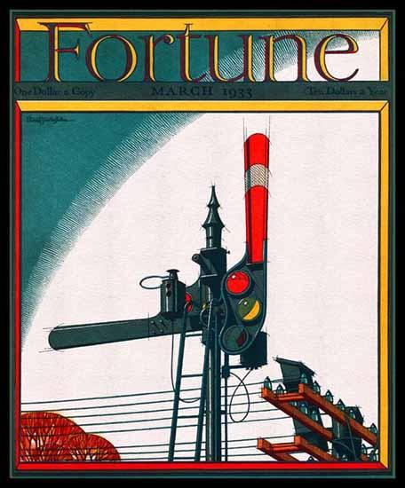 Ernest Hamlin Baker Fortune Magazine March 1933 Copyright | Fortune Magazine Graphic Art Covers 1930-1959