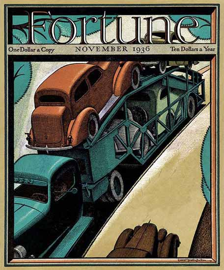 Ernest Hamlin Baker Fortune Magazine November 1936 Copyright   Fortune Magazine Graphic Art Covers 1930-1959