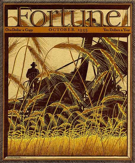 Ernest Hamlin Baker Fortune Magazine October 1935 Copyright | Fortune Magazine Graphic Art Covers 1930-1959