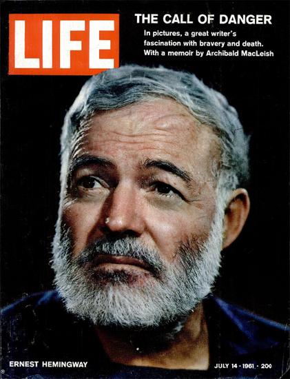 Ernest Hemingway buried last Week 14 Jul 1961 Copyright Life Magazine | Life Magazine Color Photo Covers 1937-1970