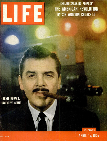 Ernie Kovacs Inventive Comic 15 Apr 1957 Copyright Life Magazine | Life Magazine Color Photo Covers 1937-1970