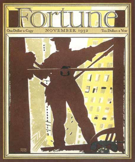 Ervine Metzl Fortune Magazine November 1932 Copyright | Fortune Magazine Graphic Art Covers 1930-1959
