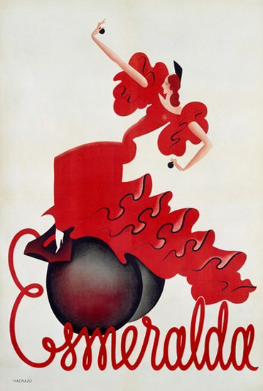 Esmeralda Flamenco Dancer T L Madrazo | Sex Appeal Vintage Ads and Covers 1891-1970