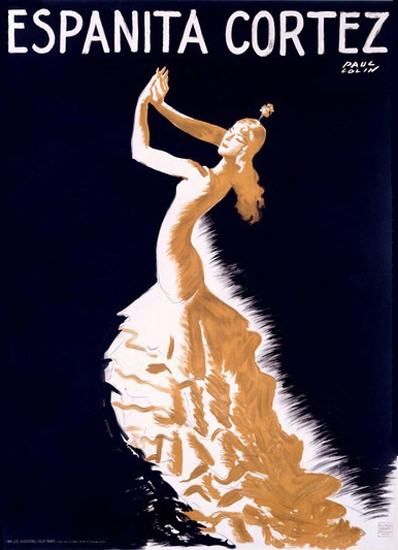 Espanita Cortez Flamenco Dancer Paul Colin | Sex Appeal Vintage Ads and Covers 1891-1970