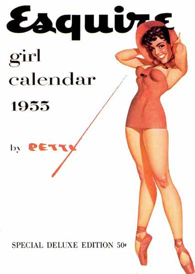 Esquire Girl Calendar 1955 Pin-Up Girl George Petty Sex Appeal   Sex Appeal Vintage Ads and Covers 1891-1970