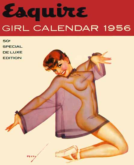 Esquire Girl Calendar 1956 Pin-Up Girl George Petty Sex Appeal | Sex Appeal Vintage Ads and Covers 1891-1970