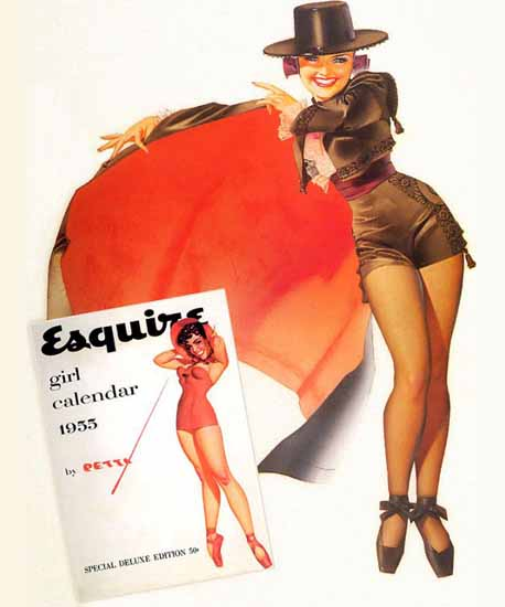 Esquire Girl Calendar Ad 1955 Pin-Up Girl George Petty Sex Appeal   Sex Appeal Vintage Ads and Covers 1891-1970
