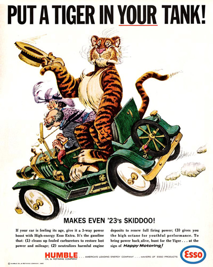 Esso Put A Tiger In Your Tank 1965 23s Skiddoo | Vintage Ad and Cover Art 1891-1970