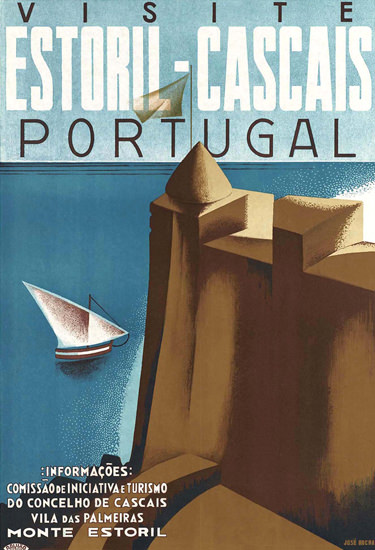 Estoril-Cascais Portugal | Vintage Travel Posters 1891-1970