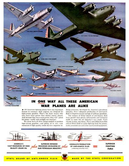 Ethyl Corporation Air Fleet | Vintage War Propaganda Posters 1891-1970