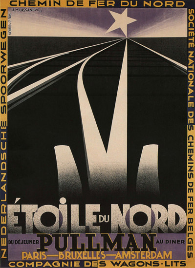 Etoile Du Nord Pullman France Star Of The North | Vintage Travel Posters 1891-1970