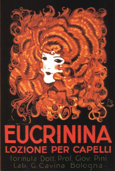 Eucrinina Lozione Per Capelli Italia Hair Creme | Sex Appeal Vintage Ads and Covers 1891-1970