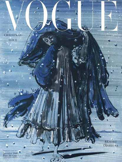 Eugene Berman Vogue Cover 1948-12-01 Copyright | Vogue Magazine Graphic Art Covers 1902-1958