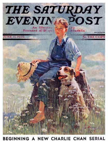 Eugene Iverd Cover Artist Saturday Evening Post 1932_06_11 | The Saturday Evening Post Graphic Art Covers 1931-1969