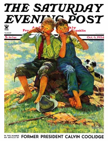 Eugene Iverd Cover Artist Saturday Evening Post 1934_10_06 | The Saturday Evening Post Graphic Art Covers 1931-1969