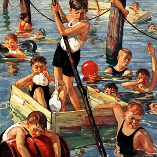 Eugene Iverd Saturday Evening Post 1928_07_28 Copyright crop | Best of Vintage Cover Art 1900-1970