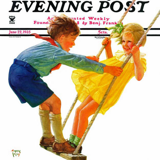 Eugene Iverd Saturday Evening Post Swing 1935_06_22 Copyright crop | Best of 1930s Ad and Cover Art
