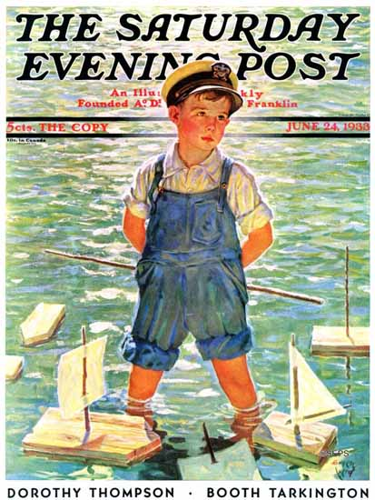 Eugene Iverd Saturday Evening Post Toy Sailboats 1933_06_24 | The Saturday Evening Post Graphic Art Covers 1931-1969