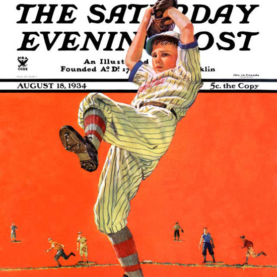 Eugene Iverd Saturday Evening Post Windup 1934_08_18 Copyright crop | Best of 1930s Ad and Cover Art