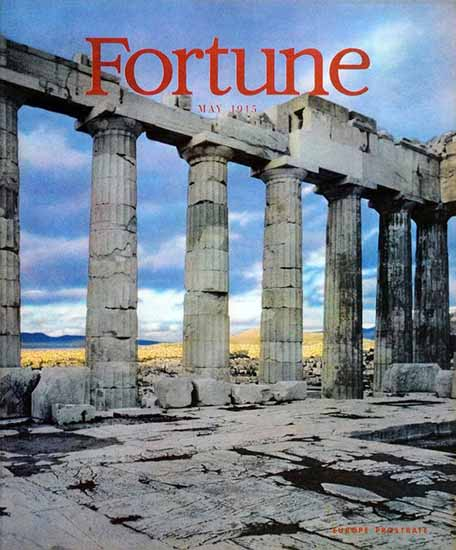 Europe Prostrate Fortune Magazine May 1945 Copyright | Fortune Magazine Graphic Art Covers 1930-1959