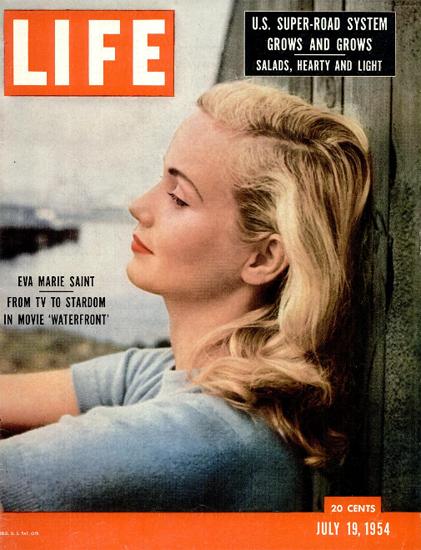 Eva Marie Saint in Waterfront 19 Jul 1954 Copyright Life Magazine   Life Magazine Color Photo Covers 1937-1970