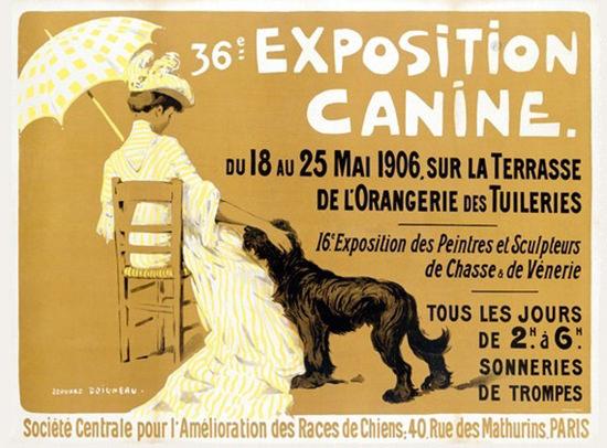 Exposition Canine Paris 1906 Edouard Doigneau | Sex Appeal Vintage Ads and Covers 1891-1970