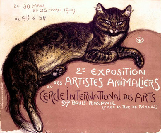 Exposition Des Artistes Animaliers 1909 Cat Couch | Vintage Ad and Cover Art 1891-1970