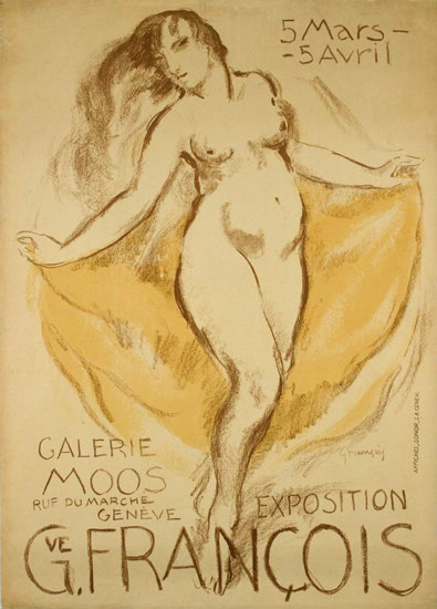 Exposition Gustave Francois Galerie Moos 1920s | Sex Appeal Vintage Ads and Covers 1891-1970