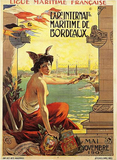 Exposition Int Maritime De Bordeaux 1907 | Sex Appeal Vintage Ads and Covers 1891-1970