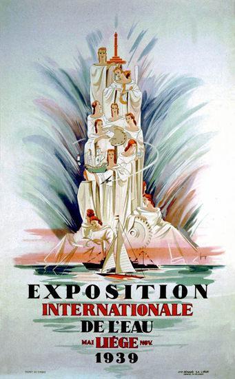 Exposition Internationale De L Eau Liege 1939 | Sex Appeal Vintage Ads and Covers 1891-1970