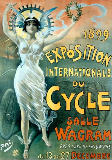 Exposition Internationale Du Cycle Paris 1899 | Sex Appeal Vintage Ads and Covers 1891-1970