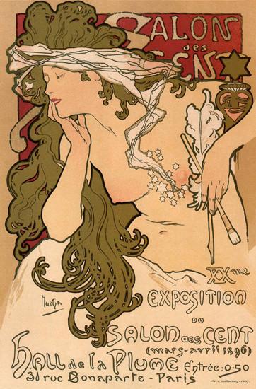 Exposition Salon Des Cent 1896 Paris France | Sex Appeal Vintage Ads and Covers 1891-1970