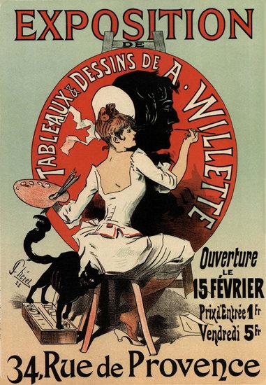 Exposition Tableaux Dessines A Willette Paris | Sex Appeal Vintage Ads and Covers 1891-1970