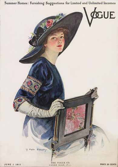 F Earl Christy Vogue Cover 1911-06-01 Copyright | Vogue Magazine Graphic Art Covers 1902-1958