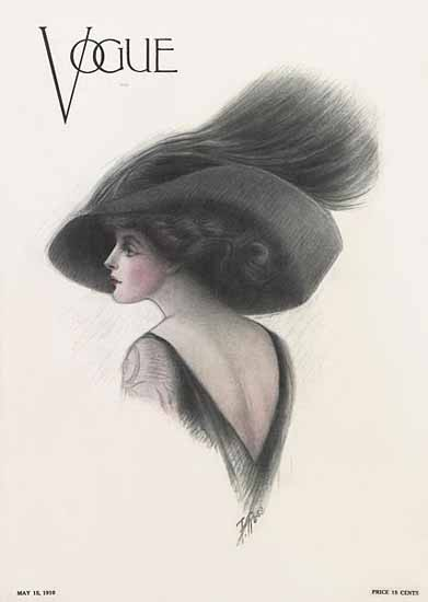F Rose Vogue Cover 1910-05-15 Copyright | Vogue Magazine Graphic Art Covers 1902-1958