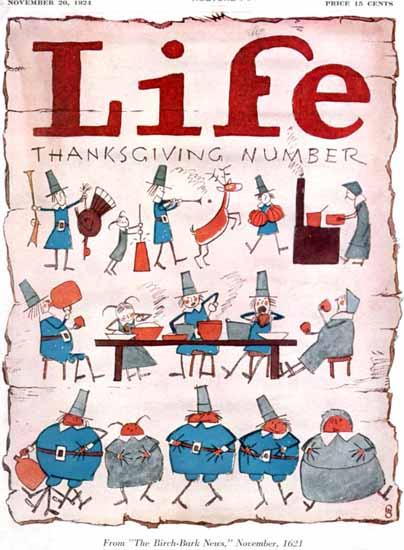 FG Cooper Life Humor Magazine 1924-11-20 Copyright   Life Magazine Graphic Art Covers 1891-1936