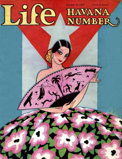FG Cooper Life Humor Magazine 1928-01-19 Copyright | Life Magazine Graphic Art Covers 1891-1936