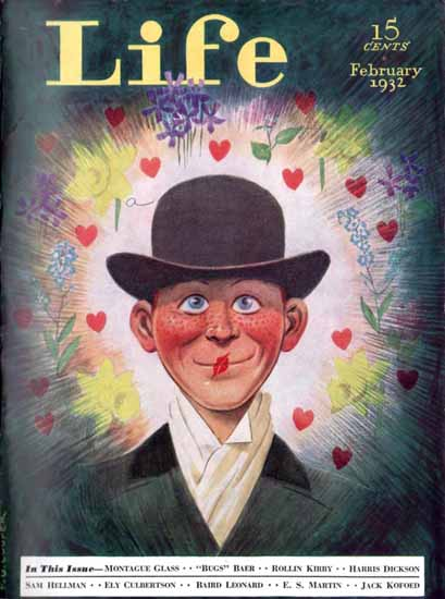 FG Cooper Life Humor Magazine 1932-02 Copyright | Life Magazine Graphic Art Covers 1891-1936
