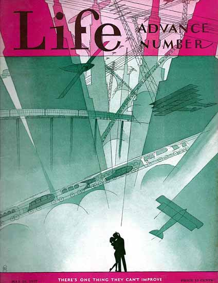 FG Cooper Life Magazine Advance Number 1927-05-26 Copyright | Life Magazine Graphic Art Covers 1891-1936