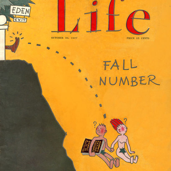 FG Cooper Life Magazine Eden Exit Fall 1927-10-20 Copyright crop | Best of Vintage Cover Art 1900-1970
