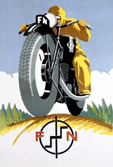 FN Motorcycle 1925 | Vintage Travel Posters 1891-1970