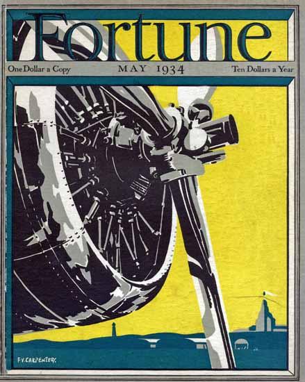 FV Carpenter Fortune Magazine May 1934 Copyright | Fortune Magazine Graphic Art Covers 1930-1959