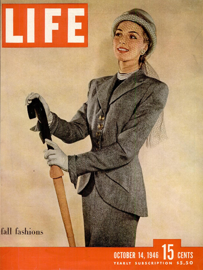 Fall Fashions 14 Oct 1946 Copyright Life Magazine | Life Magazine Color Photo Covers 1937-1970